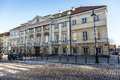 Classicist raczynski palace in warsaw december built rebuilt after the destruction during world war ii rebuilt Royalty Free Stock Images