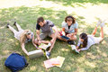 Classmates revising together on campus Royalty Free Stock Photo