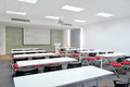 Classroom big with modern decoration Royalty Free Stock Photos