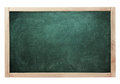 Classroom black chalk board green color isolated on white Royalty Free Stock Photo