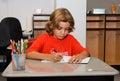 Classroom drawing kid Стоковое Изображение