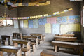 Classroom of an elementary school in Uganda Royalty Free Stock Images