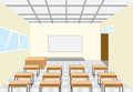 Classroom an illustration of done by software Royalty Free Stock Images