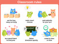 Classroom rules for kids and teacher Stock Image