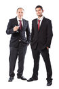 Classy businessmen two businessman standing on a white background Royalty Free Stock Photo