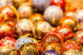 Classy christmas baubles sold at a stall at the market in strassbourg france Royalty Free Stock Photography