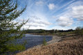 Clatteringshaws loch view of set amidst the galloway forest park dumfries and galloway scotland Royalty Free Stock Images