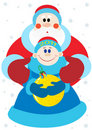 Claus wigilii nowy s Santa rok Zdjęcie Royalty Free