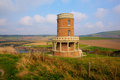 Clavell Tower landmark Kimmeridge Bay east of Lulworth Cove Dorset coast England uk Royalty Free Stock Photo