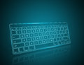 Clavier d ordinateur Photographie stock