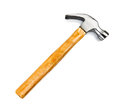 Claw hammer single on plain white background Royalty Free Stock Photos