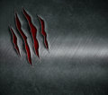 Claw scratched marks on metal background Royalty Free Stock Photo
