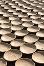 Clay Bowls Drying in The Sun, Vietnam Royalty Free Stock Photos