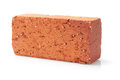 Clay brick red lying on white background Stock Photo