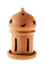 Clay candle holder Stock Photo