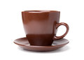 Clay (ceramic) cup Stock Images