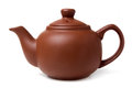Clay (ceramic) teapot Stock Photo