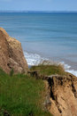 Clay cliff erosion. Skipsea Royalty Free Stock Photo