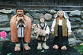 Clay figurines of a family of shepherds Stock Images