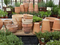Clay Flower Pots 2 Stock Photo