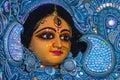Clay idol of Devi Durga.