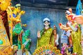 Clay idol of Goddess Saraswati, Kumartuli, Kolkata, West Bengal, India Royalty Free Stock Photo