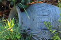 Clay jug decorative is in the garden Stock Photography