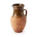 Clay jug handmade isolated on white background Royalty Free Stock Photos