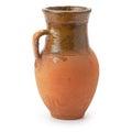 Clay jug handmade isolated on white background Stock Photo