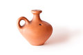 Clay jug on a white Royalty Free Stock Photo