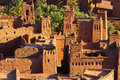 Clay kasbah ait benhaddou in morocco of Royalty Free Stock Photo