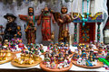 Clay nativity set for sale in chichicastenango market guatemala Royalty Free Stock Images