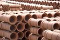 Clay Pipes at Factory Royalty Free Stock Photo
