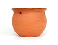 Clay pot isolated on white background Royalty Free Stock Photos