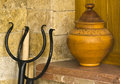 A clay pot in the kitchen for decorative purposes Royalty Free Stock Photos