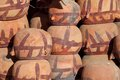 Clay pots at bazaar in sanaa yemen Stock Image