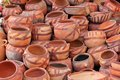 Clay pots at bazaar in sanaa yemen Royalty Free Stock Photos