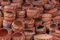 Clay pots yemen with traditional design Stock Images
