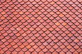 Clay roof texture tiles of thai temple Royalty Free Stock Photos
