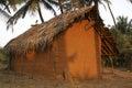 Clay shack cheap hotel farm in india Stock Photo