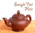 Clay teapot Stock Photography