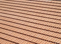 Clay tile roof Royalty Free Stock Photography