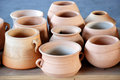 Clay vases and pot Royalty Free Stock Images