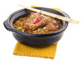 Claypot pork rice. asia food Royalty Free Stock Image