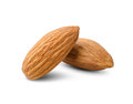 Clean almond on a white background Stock Photo