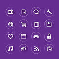 Clean app icon basic flat set for web and mobile application Stock Images