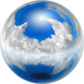 Clean blue earth Royalty Free Stock Photos