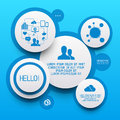 Clean circle infographic elements vector illustration Stock Images