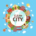 Clean city scape background