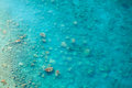 Clean clear sea, top view of the water and seabed Royalty Free Stock Photo